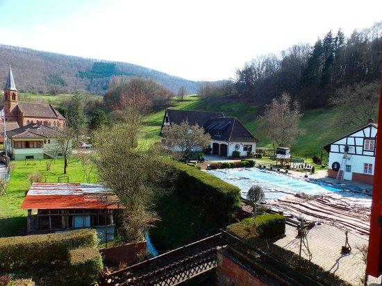Hotel Restaurant Cheval Blanc: la vue de notre chambre