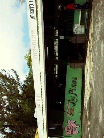 Lechonera Los Pinos: side of building
