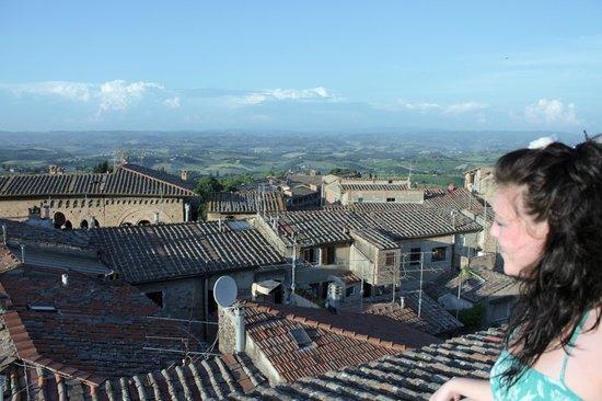 Locanda La Mandragola: terrazza sul tetto con vista