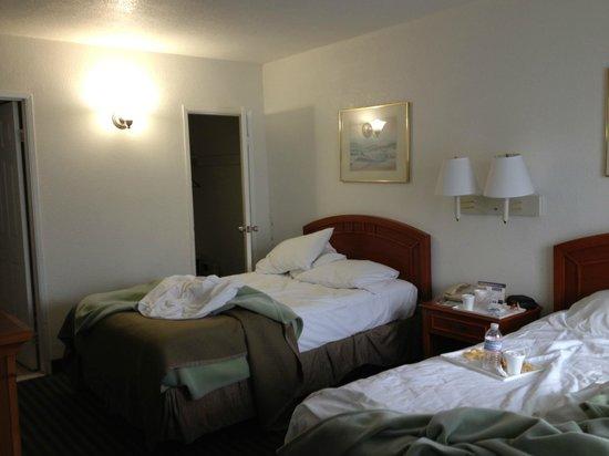 Travelodge Hollywood-Vermont/Sunset: désolée pour les lits non faits j'ai pensé à prendre les photos qu'en partant