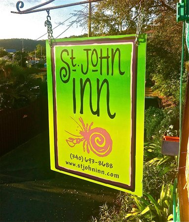 St. John Inn: sign