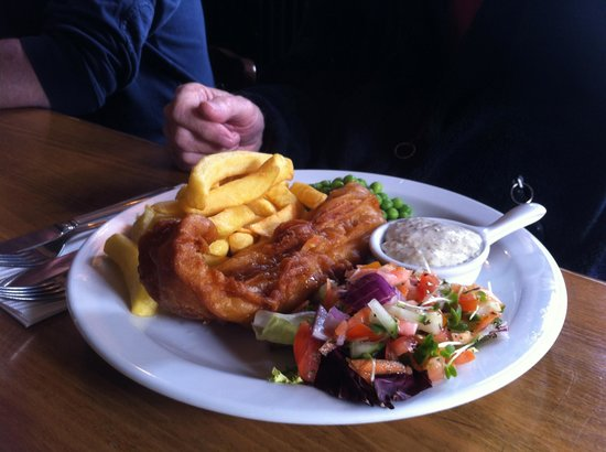 Fish and chips picture of the penny farthing inn ross for Classic kebab house fish chips aston