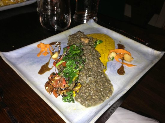 The Gleanery: Tarragon stewed lentils & black quinoa