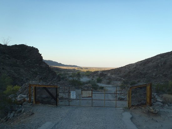 Yuma, AZ: The gate at the start of the trail