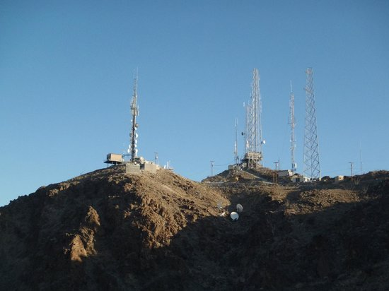 Telegraph Pass : Communication towers at the top