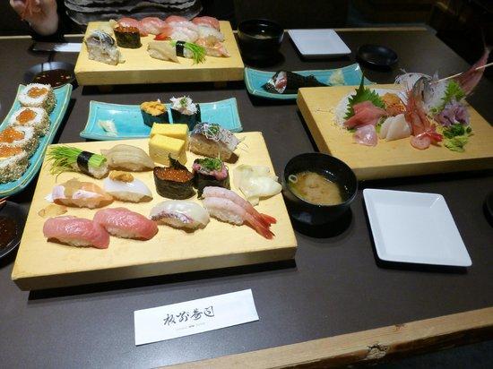 Itamae Sushi, Akasaka: Sushi platter