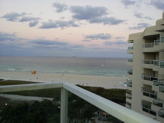 Marriott Stanton South Beach: view from my balcony east corner room