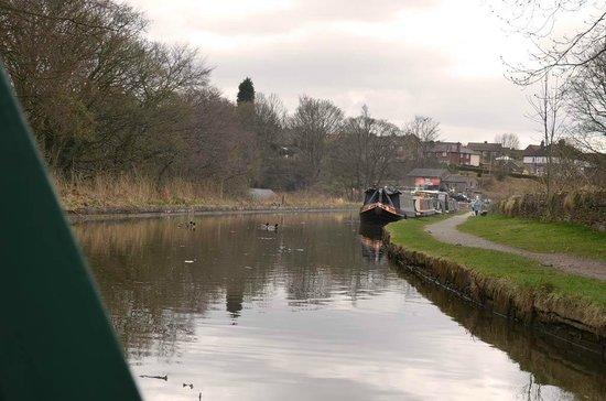 White Nancy Cruising Restaurant Boat: looking towards Macclesfield