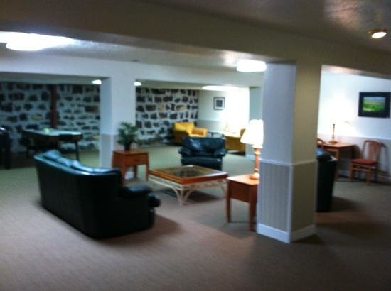 Road Creek Inn : basement game room, lounge (this I'd only one of the common spaces)