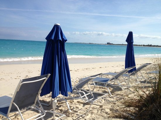 Grace Bay Suites: GBS Section of Beach -- use the light blue chairs and blue umbrellas!