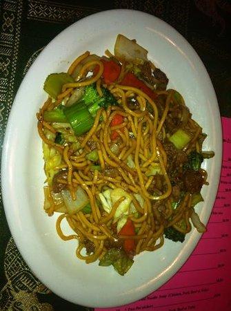 Hermiston, OR: teriyaki beef noodles