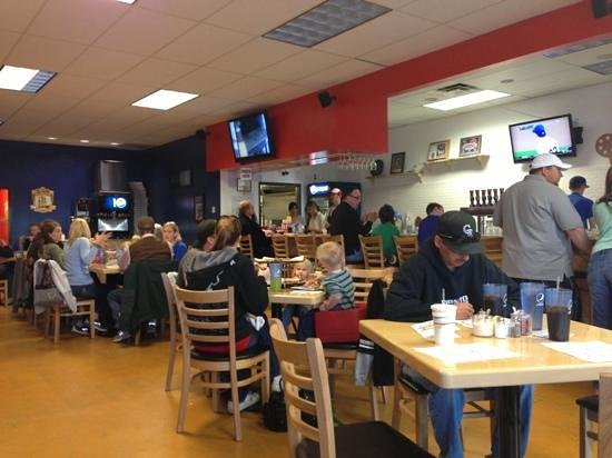 A-Town Pizza: a busy Friday night.