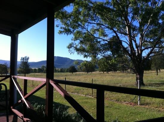 Starline Alpacas Farmstay Resort: view from the back verandah, just a stunning location