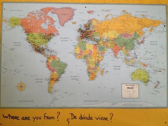 El Jardin: mapa visitantes