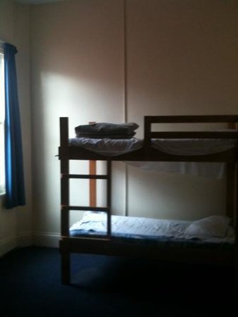 Launceston Backpackers: four bed room in old part of hostel