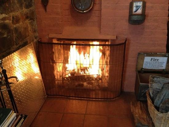 Bowerbank Mill B&B : Wonderful fire in the Chimney Cottage