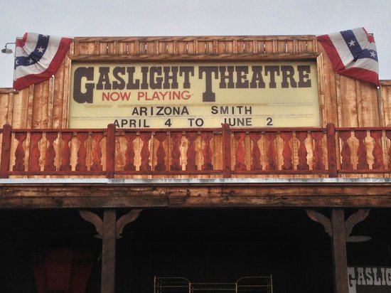 The Gaslight Theatre : Theater Marquee