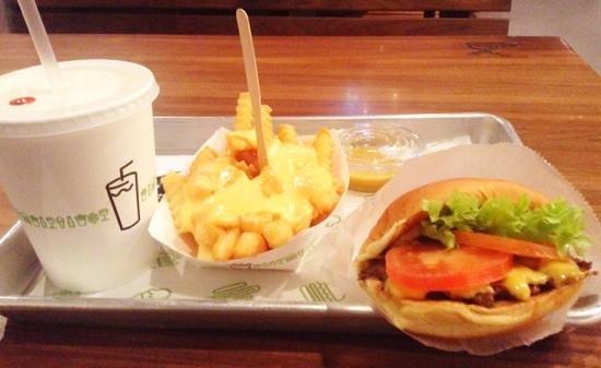 Shake Shack: 68qar, shake, burger, cheese fries