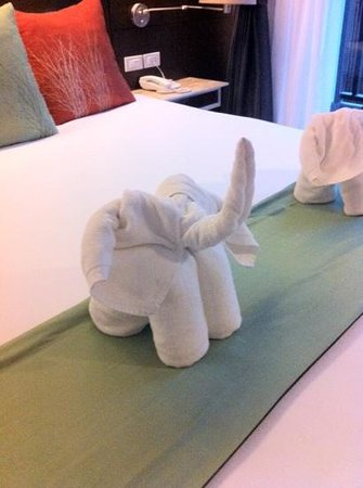 Aree Tara Resort: cute towel elephants