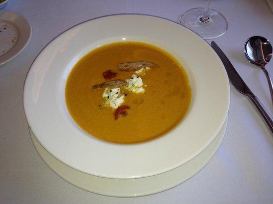 Astor Riga Hotel & Conference: Amazing Pumpkin soup at Hotel Resturant - Dinner