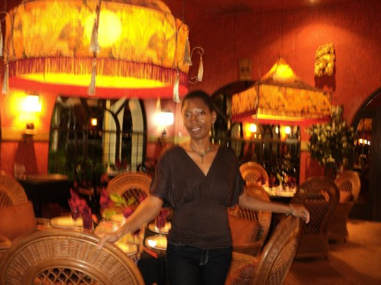 The Oriental Restaurant: The lamps were the cohesive element of the chinese/indian/thai infusion!