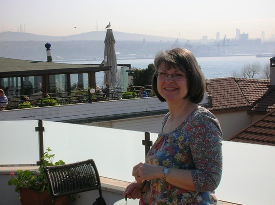 Hotel Sari Konak: View of the Bosphorus from the rooftop terrace