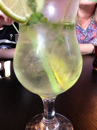 The Old Bank: no lime, mint, or crushed ice.