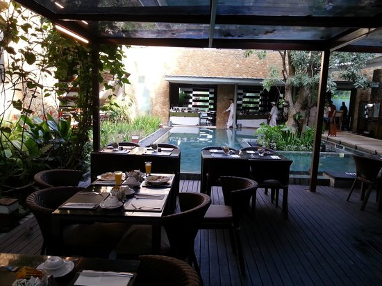 The Haven Bali: Breakfast area