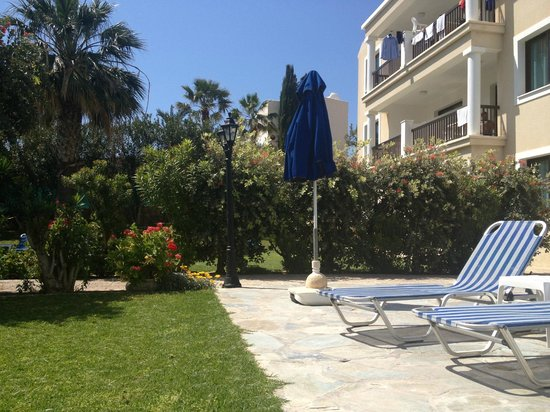 "Rododafni Beach Holiday Apartments & Villas: ""View of apartment from the pool area"""
