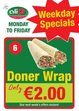 ALI G TAKEAWAY: weekday special offers