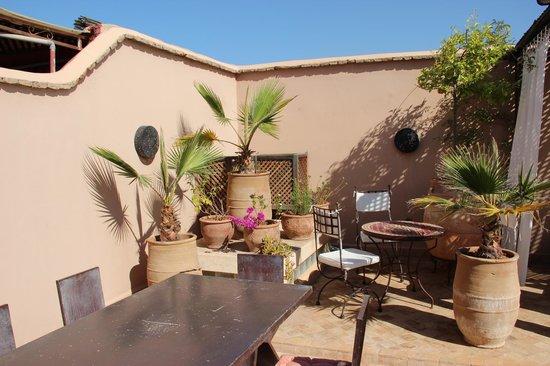 Riad 107: la terrasse bain de soleil garanti