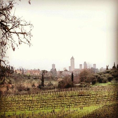Casanova di Pescille: Vista di San Gimignano