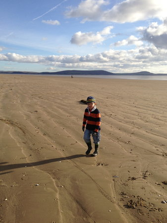 Pembrey Country Park: Pembrey beach in March