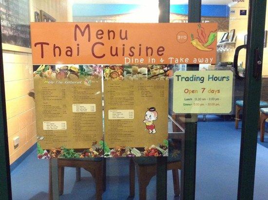 Menu Thai Restaurant : Menu and store hours
