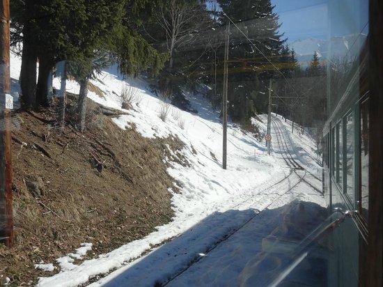 Tramway du Mont-Blanc: Le croisement