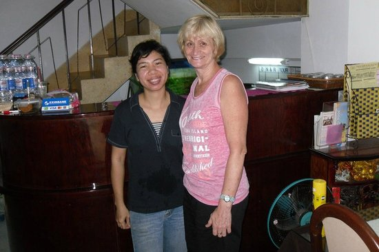 Long Hostel: Me with Ngoc (Mrs Long's Niece)