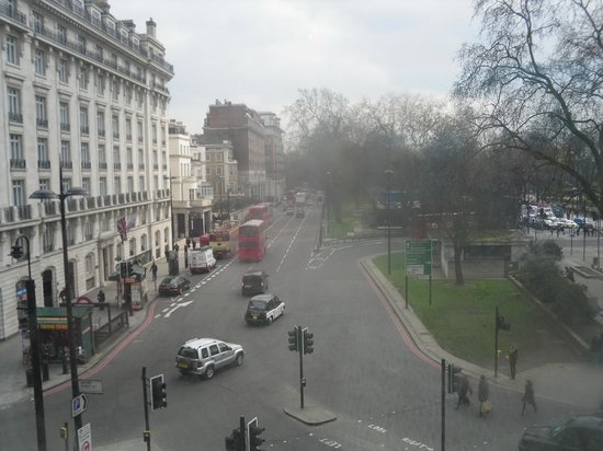 The Cumberland: View of Park Lane from room