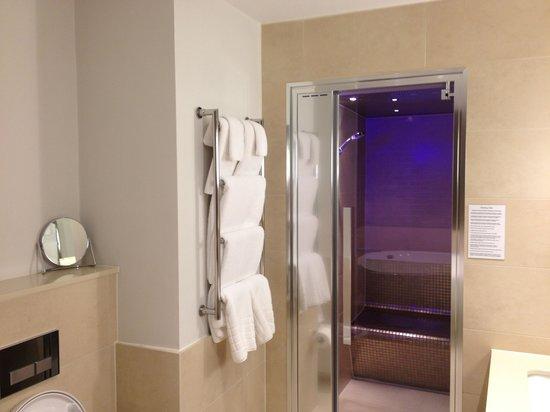 Rudding Park Hotel: Steam room in suite