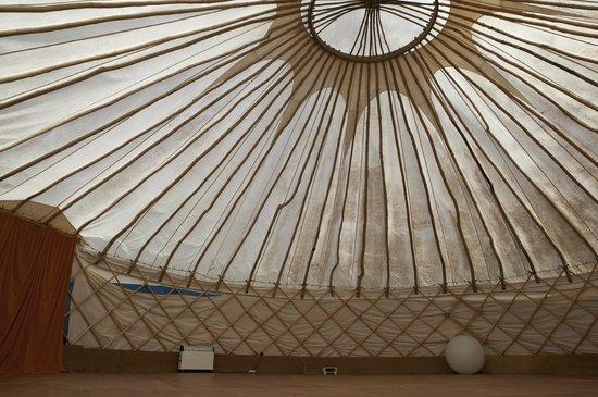 Tilton House: Inside the Yurt