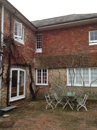 Tilton House: A little courtyard area