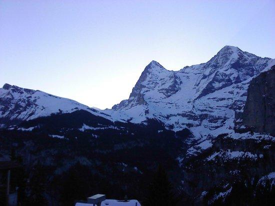 Eiger Guesthouse: vue 2/4 depuis la chambre