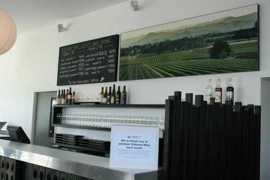 Gisborne Wine Centre: wine center counter with weekly wine specials