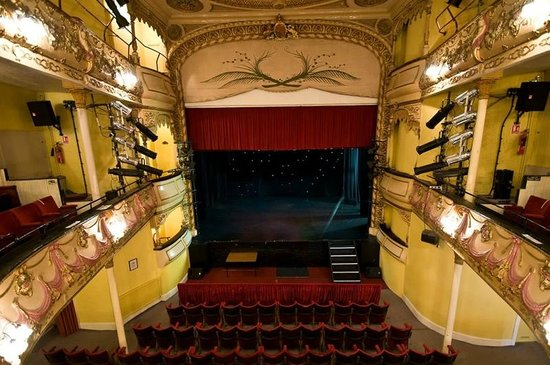Theatre Royal: the view of the stage from the dress circle