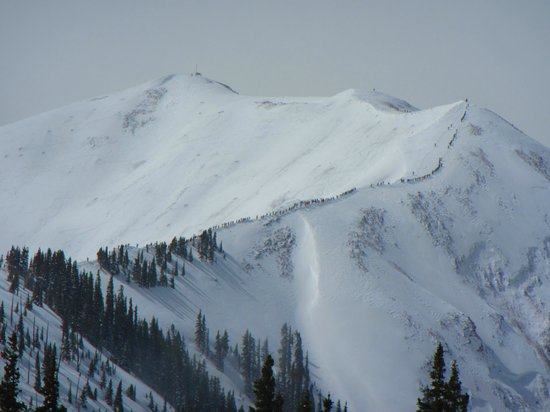 Aspen Highlands: Aspen Highland Bowl.   Hike it and shred it... if u can.