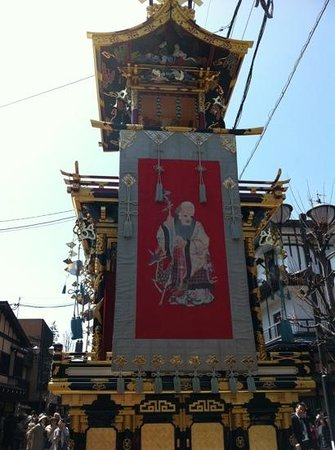 Oyado Yamakyu: one of the colorful festival floats