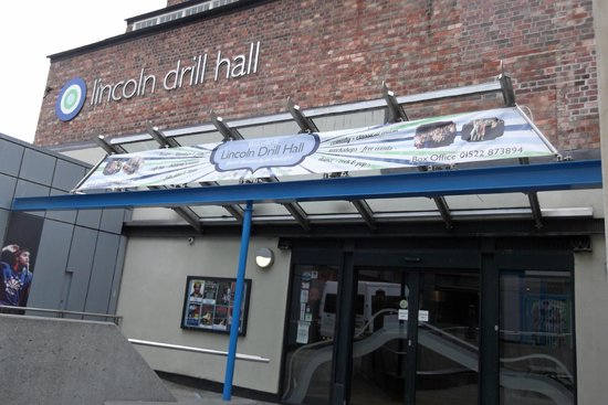 Lincoln Drill Hall: The entrance
