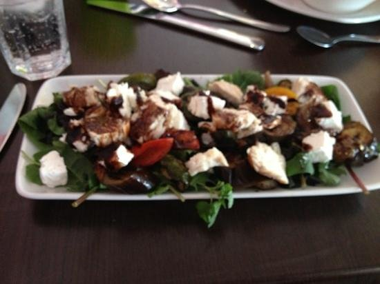 Naughty & Nice Cafe Bistro Ice Cream Parlour Chocolatier: roast Mediterranean salad (bit blurry but yummy)