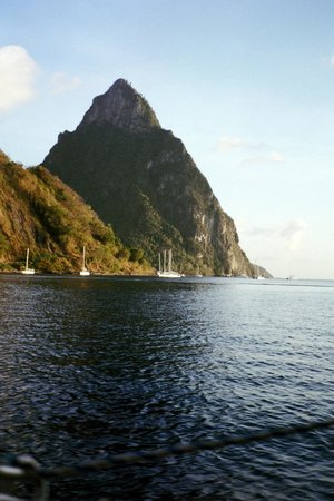 """Barefoot Holidays Saint Lucia Day Tours: Another view of """"Le Petit Piton"""""""