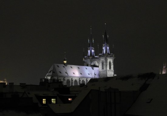Residence Masna - Prague City Apartments: Tyn Church @ night - view from apt. balcony
