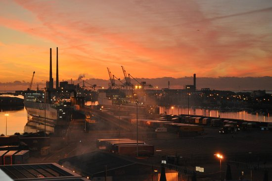 view from the room sunrise over the dublin docks picture of the